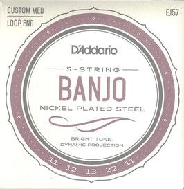 D'Addario Banjo 5-String Set Nickel (EJ 57)