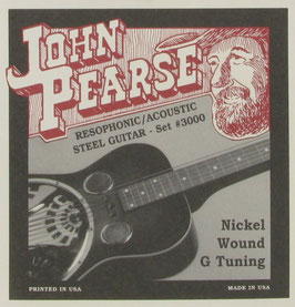 John Pearse Resophonic Guitar Nickel G Tuning, .016 - .059, 3000 (BEJS)