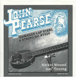 John Pearse Hawaiian Lap Steel Six String Nickel Wound Am6 Tuning 016-046 7310