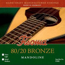 Lenzner, Fisoma, 80/20 Bonze, Mandoline Saiten. (Satz F 3020 L)