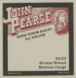 John Pearse® Tenor Banjo, .012 - .038, Set 2010M (BEJS)