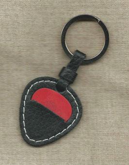 Saitenversand Schlüsselanhänger schwarz / weiss