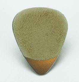 Dunlop Stainless Steel Plektrum  .38 mm, mit Wildleder Grifffläche.