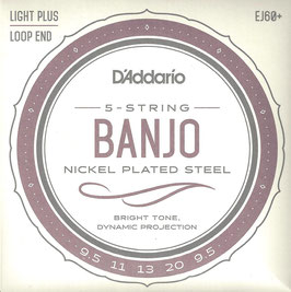 D'Addario Banjo 5 Strings Nickel Wound (EJ60+)