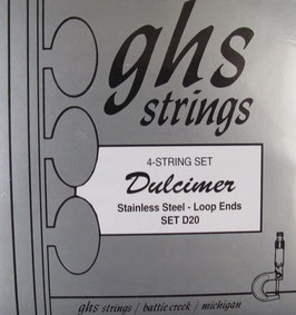 GHS Dulcimer Strings 4 String Stainless Steel D20