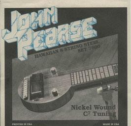 John Pearse Hawaiian Lap Steel Eight String Nickel Wound C7 Tuning 016-070 7600