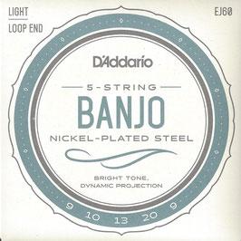 D'Addario Banjo 5 Strings Nickel Wound (EJ60)