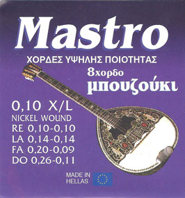 Mastro Bouzouki 8 Strings 0,10 X/L
