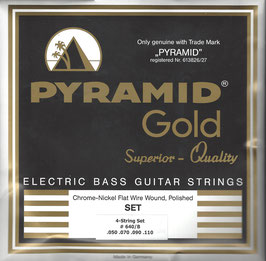 Pyramid Chrome Nickel Flatwound Saiten, Long Scale (Art.Nr.640/B)