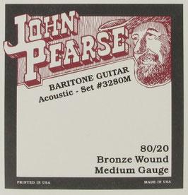 John Pearse® Baritone Acoustic Guitar 80/20 Bronze, .017 - .070, 3280M