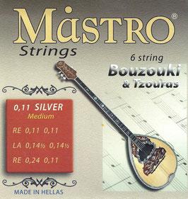 Mastro Bouzouki 6 Strings 0,11 Silver