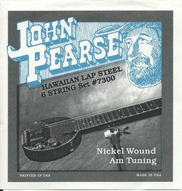 John Pearse Hawaiian Lap Steel Six String Nickel Wound Am Tuning 016-054 7300