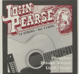 John Pearse® Acoustic 12 String Guitar Phosphor Bronze, .010 - .047, 1400L (Bestellung)