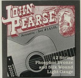John Pearse® Acoustic 12 String Guitar Phosphor Bronze Silks, .010 - .049, 1410L (Bestellung)