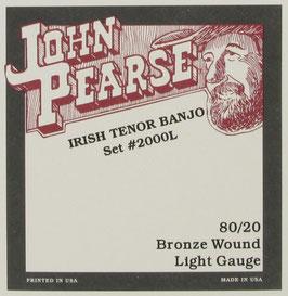 John Pearse® Irish Tenor Banjo, .011 - .036, Set 2000L (BEJS)