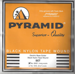 Pyramid Black Tape Nylon Flatwound, Long Scale (Art.Nr.648/1 High C)