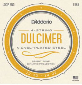 D'Addario Dulcimer Strings Nickel Wound 012-022 EJ64