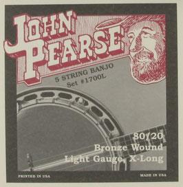 John Pearse® Banjo 5 String Bronze Extra Long Light, .009 - .020, 1700L (BEJS)