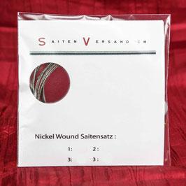 Saitenversand E-Bass Saitensatz, Nickel Wound, .055 - .115