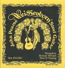 John Pearse Hawaiian Lap Steel Guitar D Tuning  015-060 3160L