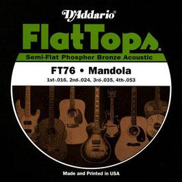 D'Addario Flat Tops Mandola 16 -53 Semi Flat (FT76)