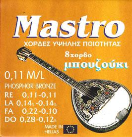 Mastro Bouzouki 8 Strings 0,11  M/L Phosphore Bronze