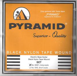 Pyramid Black Tape Nylon Flatwound, Long Scale (Art.Nr.648/1 Low B)