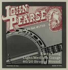 John Pearse® Banjo 5 String 80/20 Bronze Extra Long, .010 - .020, 1710LM (BEJS)