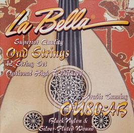 La Bella 12 Saiten Oud Arabic Tuning OU80A-B