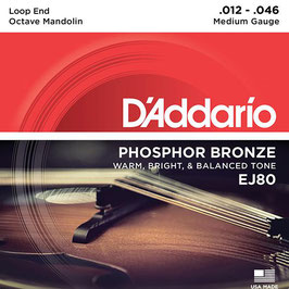 D'Addario Octave Mandolin Set Phosphor Bronze Wound (EJ80)