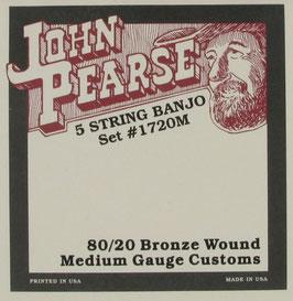 John Pearse Banjo 5 String 80/20 Bronze Extra Long, .010 - .023, 1720M (BEJS)
