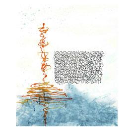 Kalligraphie Karte ohne Text