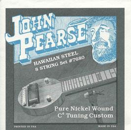 John Pearse Hawaiian Lap Steel Eight String Pure Nickel Wound C6 Tuning 015-062 7680