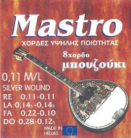 Mastro Bouzouki 8 Strings 0,11 M/L Silver wound
