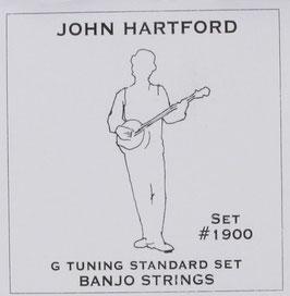 John Pearse Banjo 5 String Nickel G Tuning, .010 - .022, 1900 (BEJS)