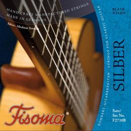 Konzertgitarre Fisoma Silber, Black Nylon (Set F2710 B)
