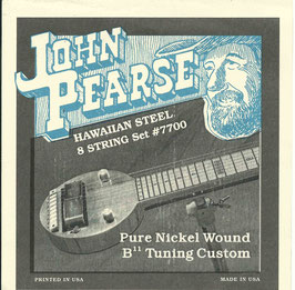 John Pearse Hawaiian Lap Steel Eight String Pure Nickel Wound B11 Tuning 015-064 7700 (BEJS)