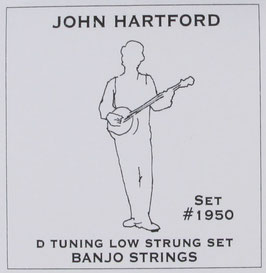 John Pearse® Banjo 5 String Nickel D Tuning, .012 - .024, 1950 (BEJS)