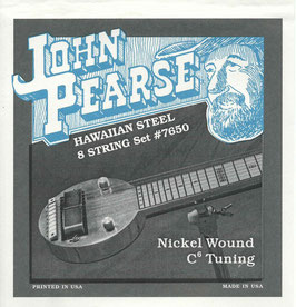 John Pearse Hawaiian Lap Steel Eight String Nickel Wound C6 Tuning 011-056 7650