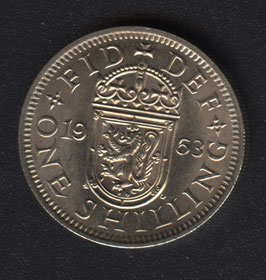 Schottische One Shilling Münze 1963