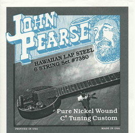 John Pearse Hawaiian Lap Steel Six String Pure Nickel Wound C6 Tuning 015-034 7380 (BEJS)
