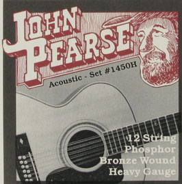 John Pearse® Acoustic 12 String Guitar Phosphor Bronze C# Tuning, .013 - .056, 1450H (Bestellung)