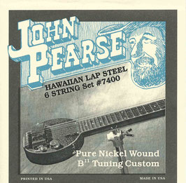 John Pearse Hawaiian Lap Steel Six String Pure Nickel Wound B11 Tuning 015-034 7400