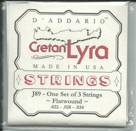 D'Addario Lyra Saiten Flatwound Set J89
