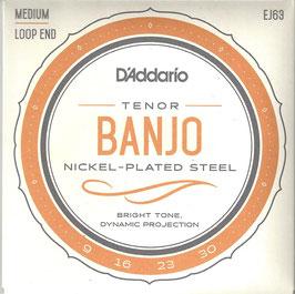 D'Addario Tenor Banjo 4 Strings Set Nickel Wound ( EJ63)
