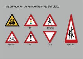 Dreieckige Verkehrszeichen