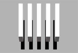 3D Schatten Kit 2,   5 weiße Linien (0,5 x 3m) + Schatten