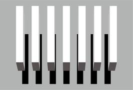 3D Schatten Kit 3, 7 weiße Linien (0,5 x 3m) + Schatten