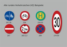 Runde Verkehrszeichen