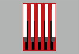 Thermoplastische Dauermarkierung - 3D Schatten Kit 2, 5 weiße Linien (0,5 x 3m) + Schatten und Hintergrund